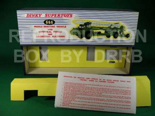 Dinky #666 Erecting Vehicle & Corporal Missile - Reproduction Box
